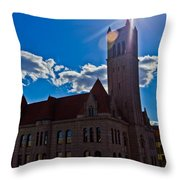 Parkersburg Courthouse Throw Pillow