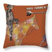 Parking In The Rear Throw Pillow