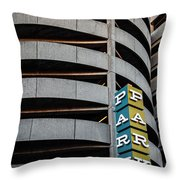 Parking In The Round Throw Pillow