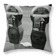 Parking Meters Throw Pillow