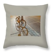Parking On The Street At Sundown Throw Pillow