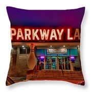 Parkway Lanes Throw Pillow