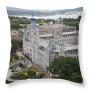 Parlament Quebec  Throw Pillow