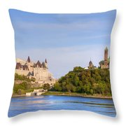Parliament Buildings And The Fairmont Throw Pillow