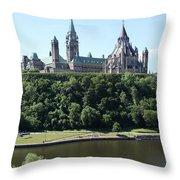 Parliament Hill - Ottawa Throw Pillow