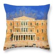 Parliament Of Athens Throw Pillow