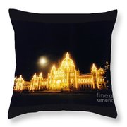 Parliment Building Victoria Throw Pillow