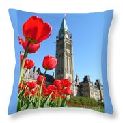Parliament Hill, Ottawa Throw Pillow