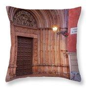 Parma Baptistery Doorway Throw Pillow