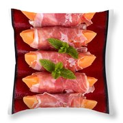 Parma Ham And Melon Throw Pillow