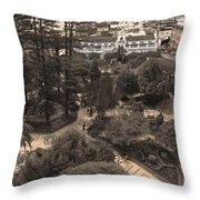 Parque Calderon And The Old Cathedral In Cuenca Ecuador Throw Pillow by Al Bourassa