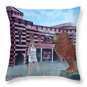 Amber At Parque De Bombas Ponce Pr Throw Pillow