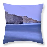 Parque Natural Cabo De Gata Almeria Spain Throw Pillow