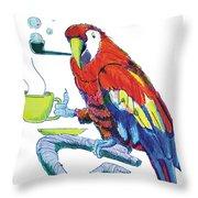 Parrot Cartoon Throw Pillow