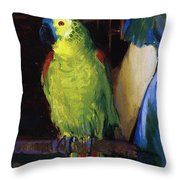Parrot Throw Pillow