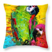 Parrot Lovers Throw Pillow