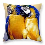 Parrot Passion 1 Throw Pillow