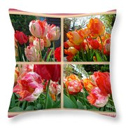Parrot Tulips In Springtime Philadelphia Throw Pillow