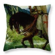 Parsifal In Quest Of The Holy Grail Throw Pillow
