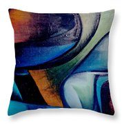 Part Of An Abstract Painting Throw Pillow