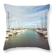 Parted Throw Pillow