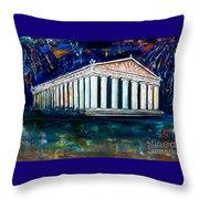 Parthenon - Nashville Throw Pillow