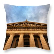 Parthenon From Below Throw Pillow by Dan Sproul