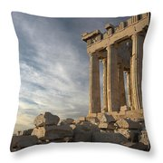 Parthenon From The South Throw Pillow