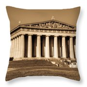 Parthenon In Sepia 3 Throw Pillow