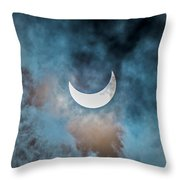 Partial Solar Eclipse In Cloud 1 Oct Throw Pillow