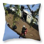 Participants Rescue A Person Throw Pillow