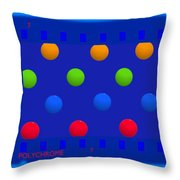 Particle 7 Throw Pillow