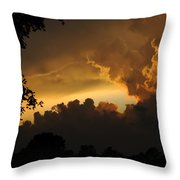 Parting Clouds Throw Pillow