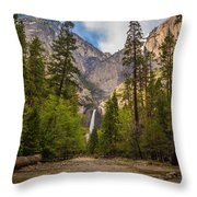 Parting Trees Throw Pillow