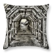 Partington Cove Tunnel By Diana Sainz Throw Pillow