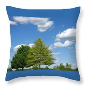 Partly Cloudy Day Throw Pillow