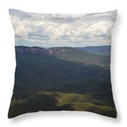 Partly Cloudy Day In The Blue Mountains Throw Pillow
