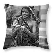 Partners Bw Throw Pillow