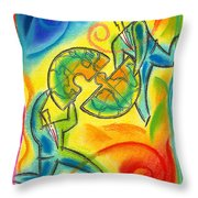 Partnership Throw Pillow by Leon Zernitsky