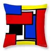 Partridge Family Abstract 1 C Square Throw Pillow
