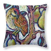 Partridge In A Pear Tree 1 Throw Pillow