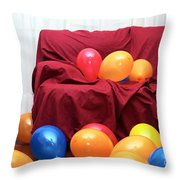 Party Balloons Throw Pillow
