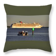 Party Boats Throw Pillow