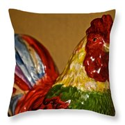 Party Chicken Throw Pillow