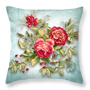 Party Of Flowers  Throw Pillow