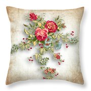 Party Of Roses  Throw Pillow