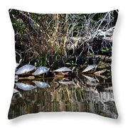 Party On A Log Throw Pillow