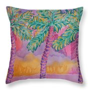 Party Palms Throw Pillow