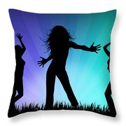 Party People Throw Pillow