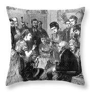 Party Toast, 1872 Throw Pillow